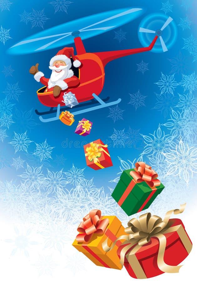 克劳斯飞行圣诞老人 库存例证