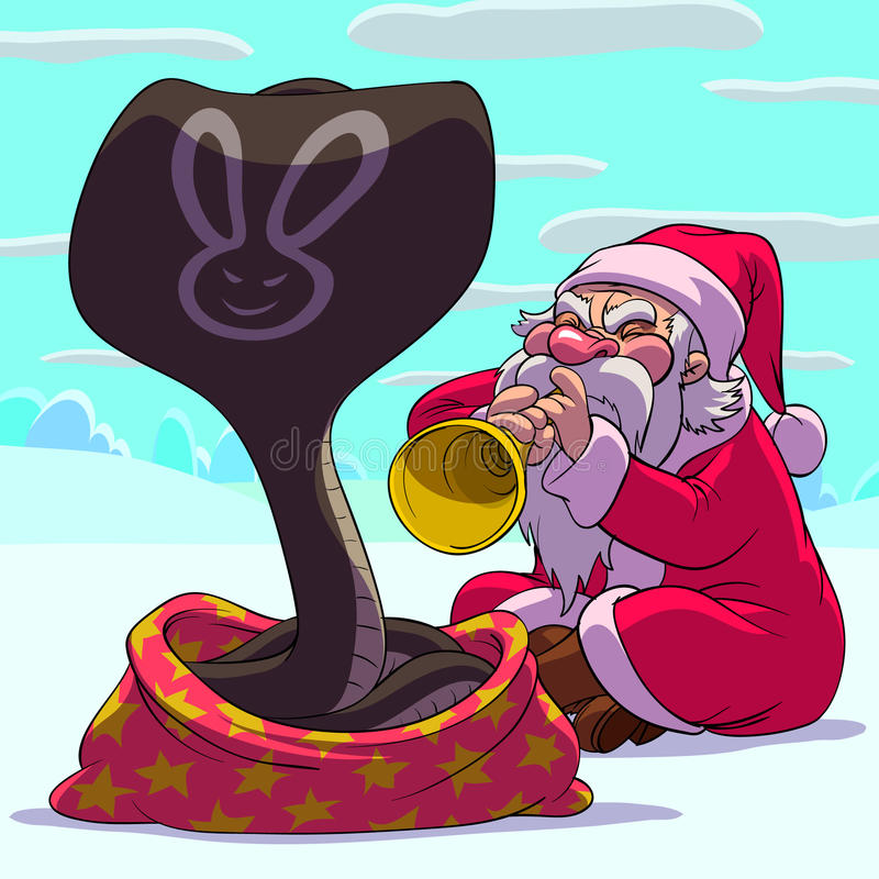 克劳斯骗子圣诞老人 向量例证
