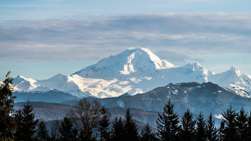 贝克山从费沙尔谷BC观看了 免版税库存图片