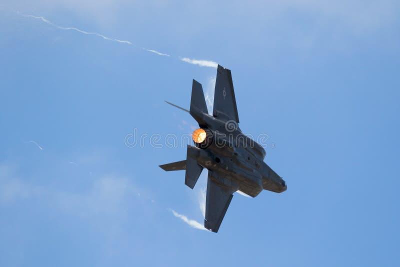 洛克希德F-35喷气式歼击机 免版税库存照片
