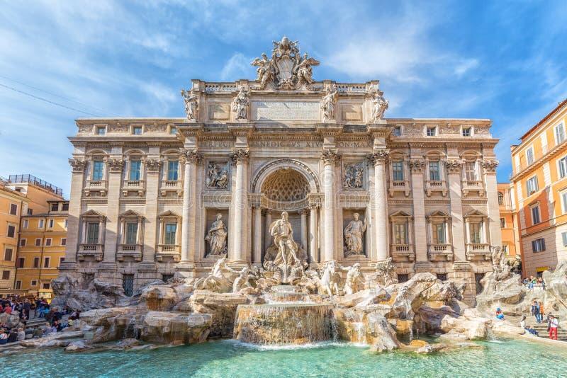 巴洛克式的喷泉意大利杰作罗马trevi 免版税库存照片