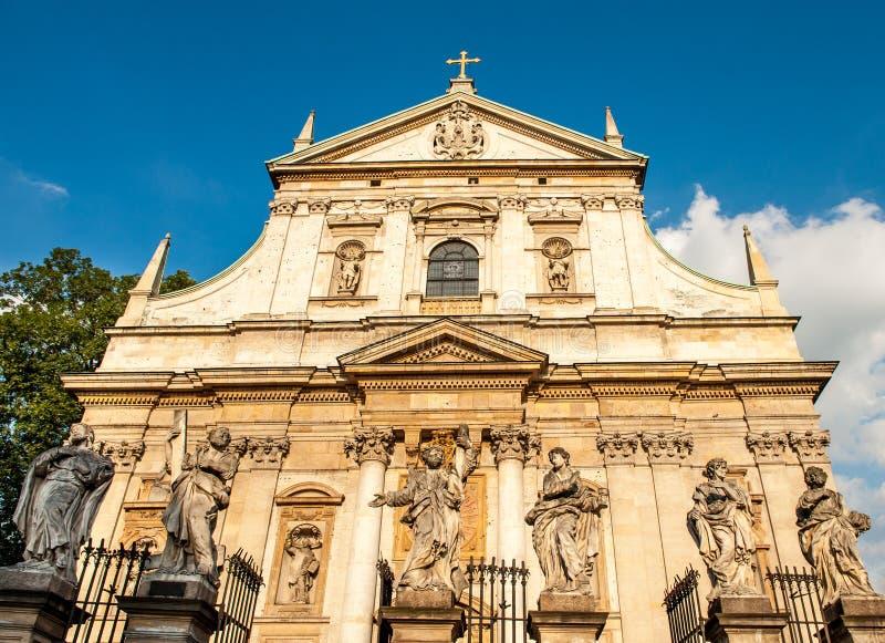 圣皮特和圣保罗的教会在克拉科夫,波兰 库存图片