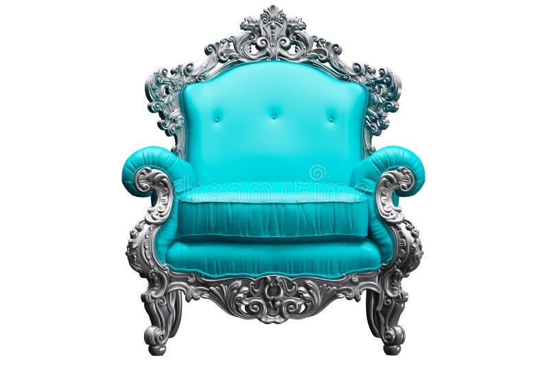 巴洛克式的扶手椅子 库存图片