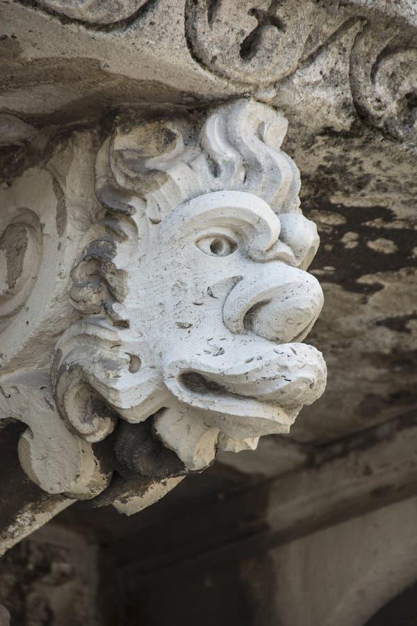 巴洛克式的面具在卡塔尼亚西西里岛 库存图片