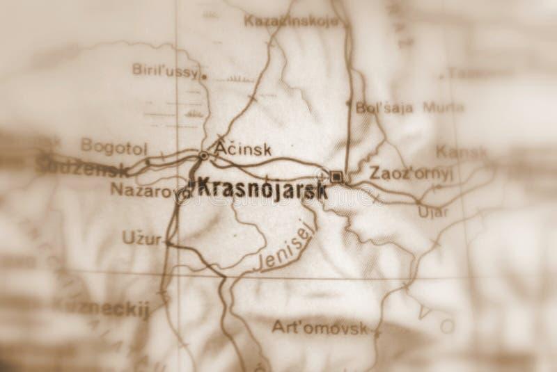 克拉斯诺亚尔斯克,一个城市在俄罗斯 免版税库存照片