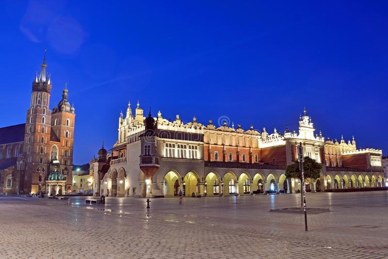 克拉科夫大广场 免版税库存照片