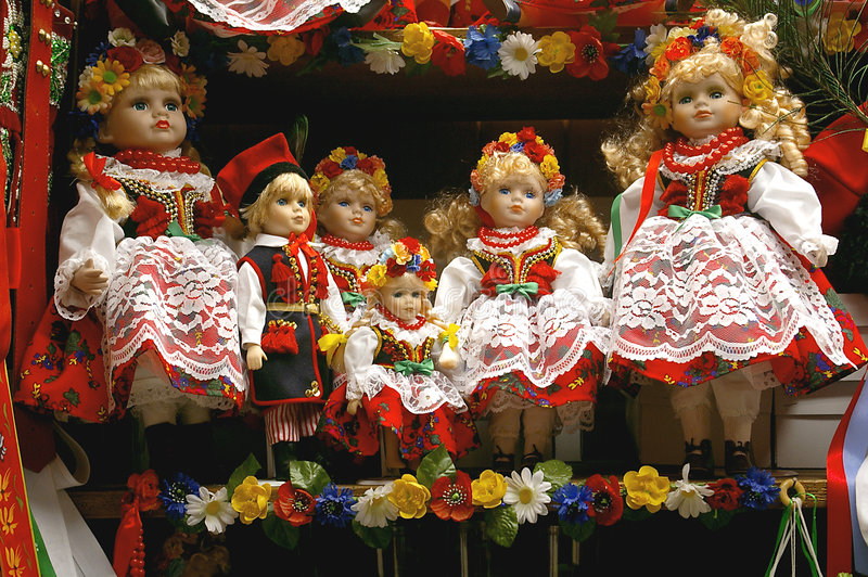 克拉科夫玩偶 免版税库存图片