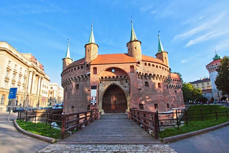 克拉科夫老城镇 库存图片