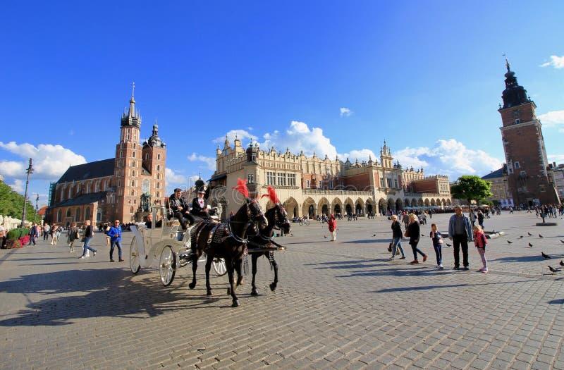 克拉科夫,波兰老镇 免版税库存图片