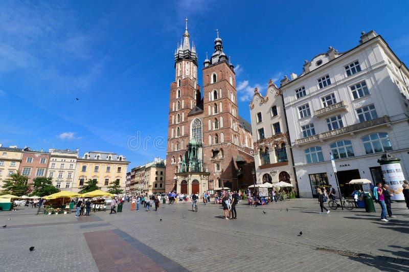 克拉科夫,波兰,老镇 库存图片