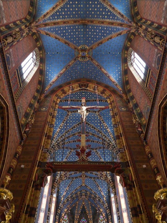 克拉科夫-圣玛丽-波兰的教会 免版税图库摄影