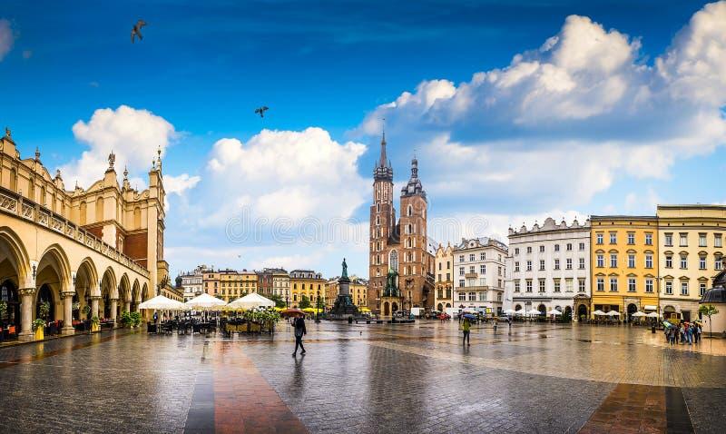 克拉科夫-波兰的历史的中心 库存图片