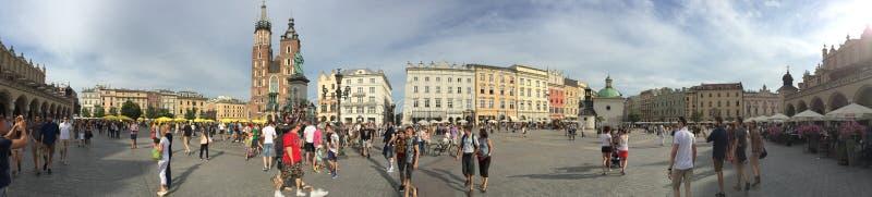 克拉科夫主要集市广场,波兰 免版税库存图片