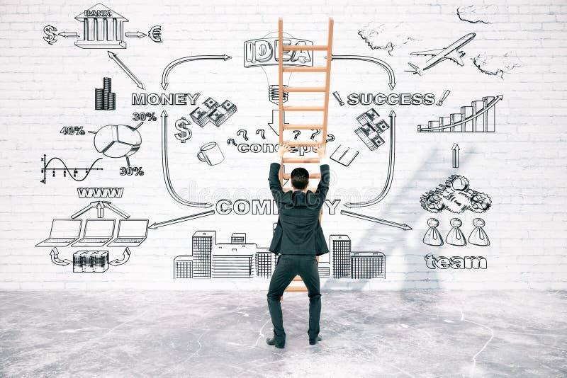 克服企业困难的概念 向量例证
