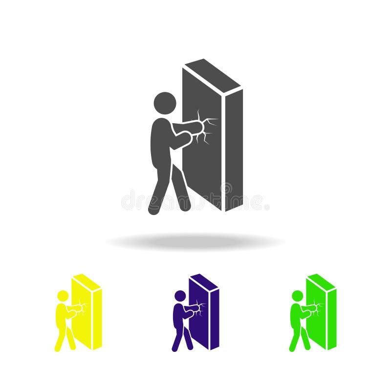 克服困难上色了象 被克服的挑战例证的元素 标志和标志汇集象网站的 库存例证