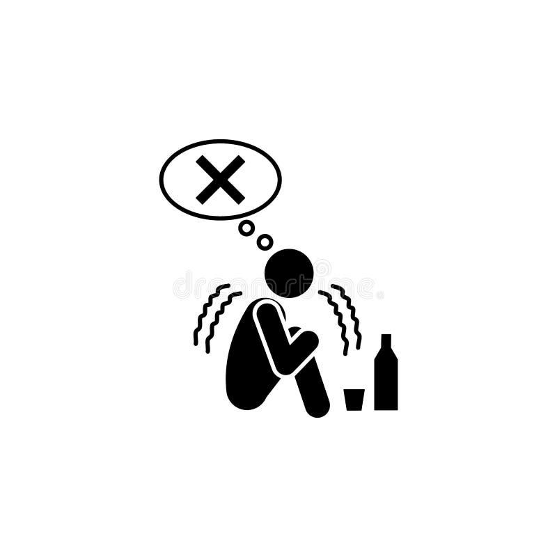 克服瘾象 被克服的挑战例证的元素 优质质量图形设计象 标志和标志coll 库存例证