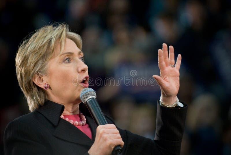 克林顿・水平的希拉里 免版税库存图片