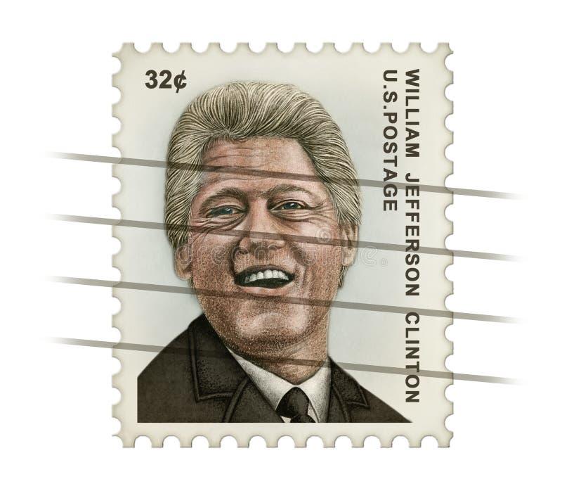 克林顿邮票 免版税库存照片