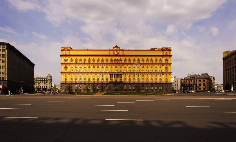 克格勃的门面大厦在Lubyanka广场的在莫斯科,俄罗斯 库存图片