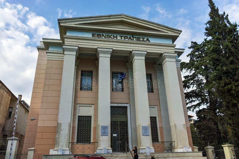 克桑西,希腊- 2017年9月23日:在克桑西开户,希腊老镇  库存图片
