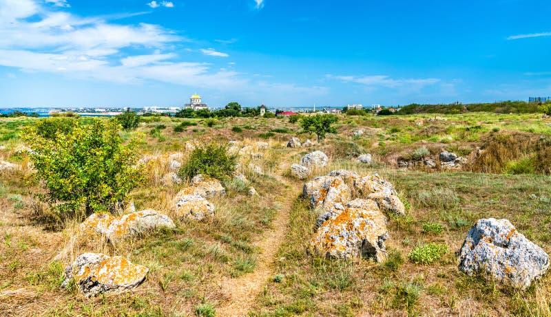 克森尼索,古希腊殖民地废墟  塞瓦斯托波尔,克里米亚 图库摄影