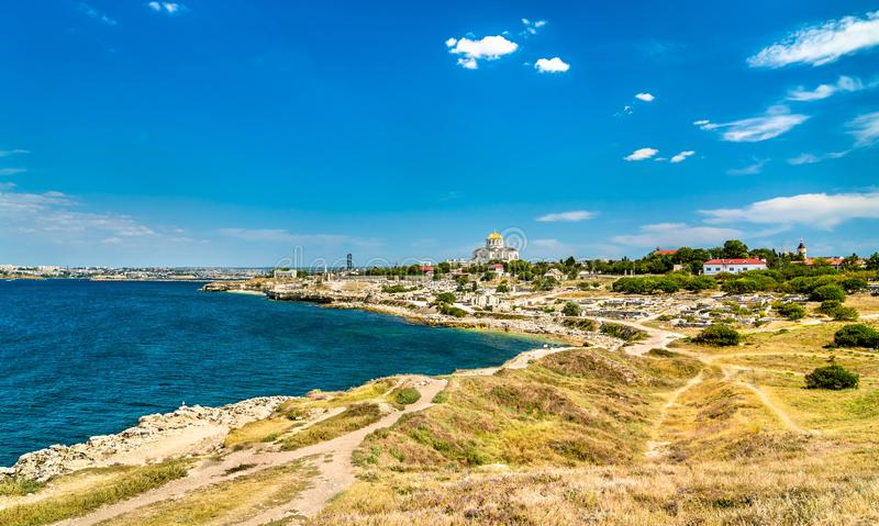 克森尼索,古希腊殖民地废墟  塞瓦斯托波尔,克里米亚 库存图片