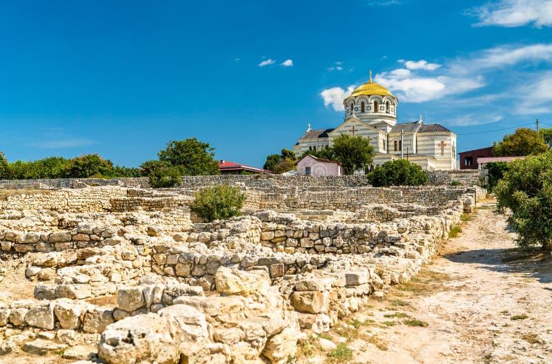 克森尼索,古希腊殖民地废墟  塞瓦斯托波尔,克里米亚 库存照片