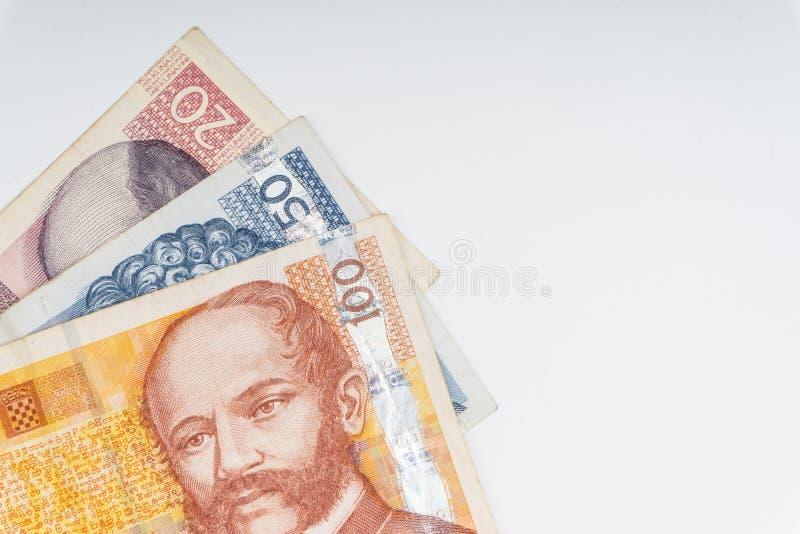 克罗地亚人库娜或STO库娜金钱货币特写镜头 库存例证
