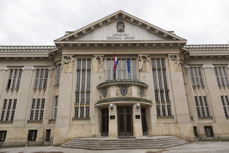 克罗地亚人说明档案修造 免版税图库摄影