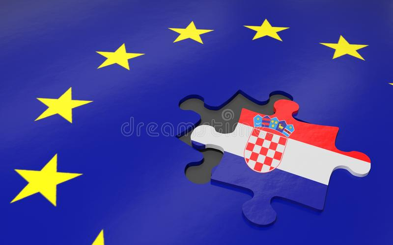克罗地亚和欧盟 库存例证