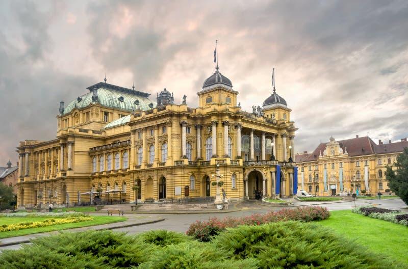 克罗地亚国家戏院萨格勒布 克罗地亚 免版税库存照片