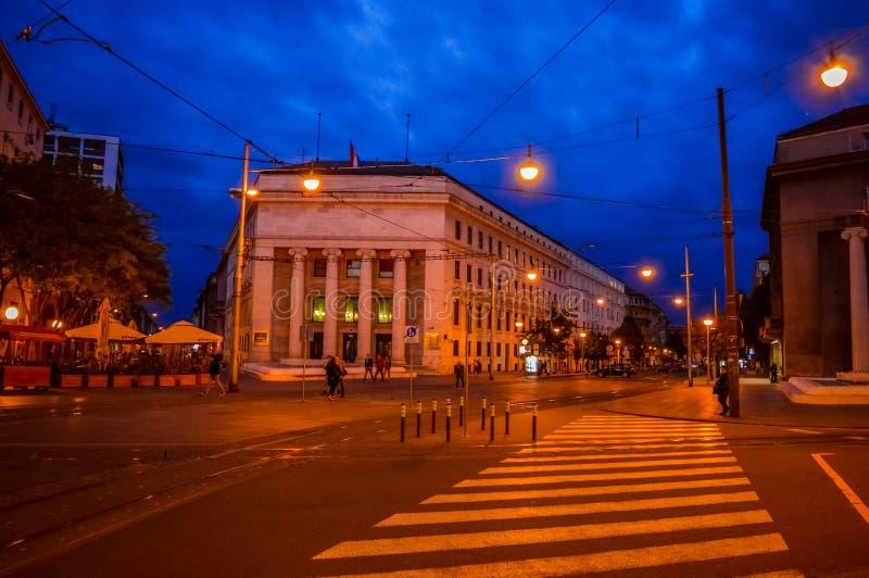 克罗地亚国家银行在萨格勒布 库存图片