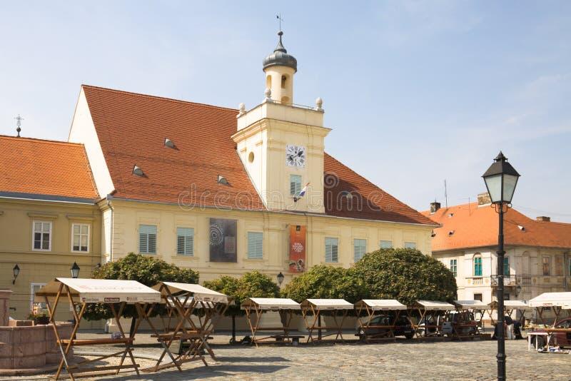 克罗地亚奥西耶克市历史名城护卫楼 免版税库存图片