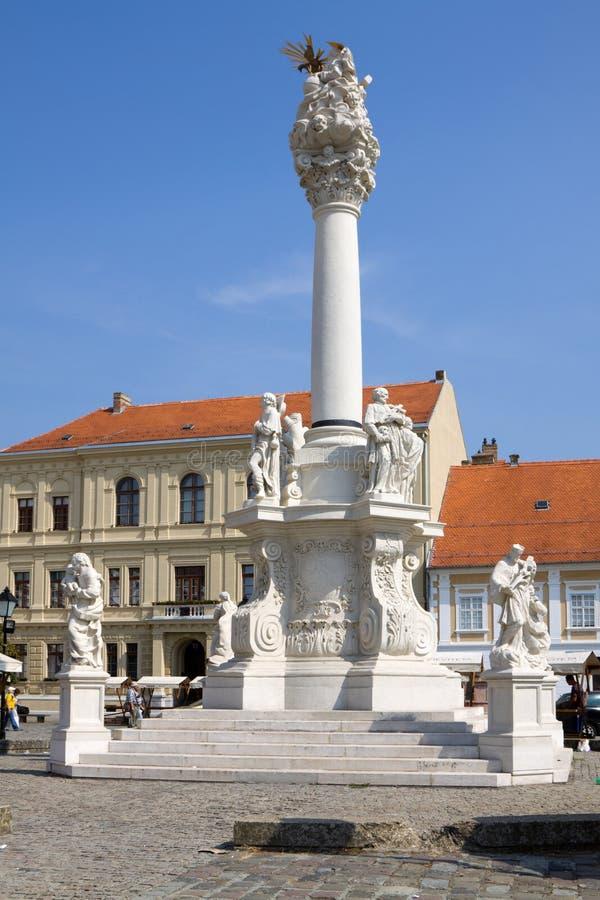 克罗地亚奥西耶克市圣三一纪念碑 免版税库存照片