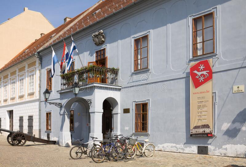 克罗地亚奥西耶克市斯拉沃尼亚博物馆 免版税库存图片
