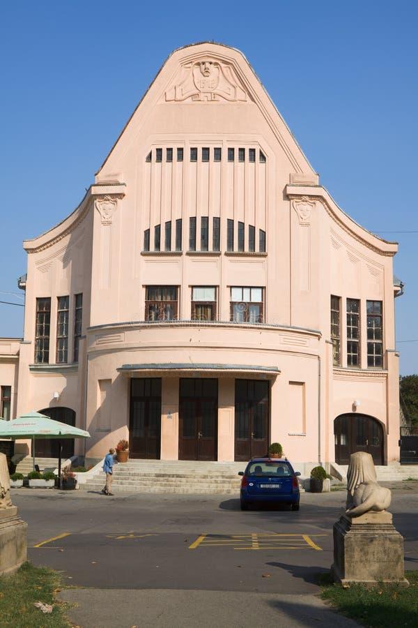克罗地亚奥西耶克市的乌拉尼亚电影 免版税图库摄影
