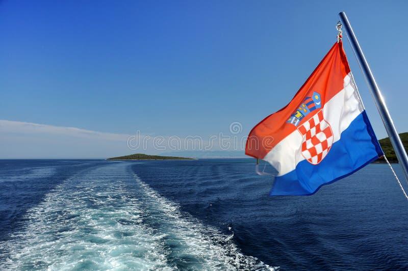 克罗地亚巡航 库存照片