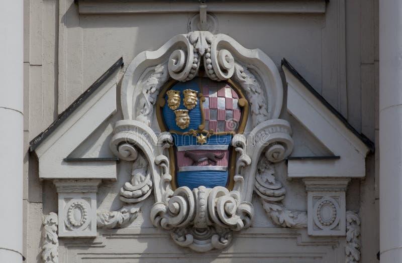 克罗地亚徽章 库存图片