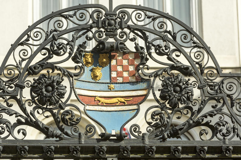 克罗地亚徽章 免版税库存照片