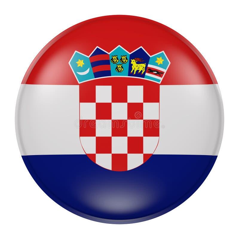 克罗地亚按钮 皇族释放例证