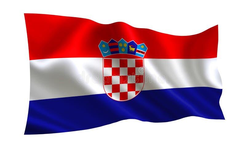 克罗地亚旗子,世界的一系列的`旗子 `国家-克罗地亚 向量例证