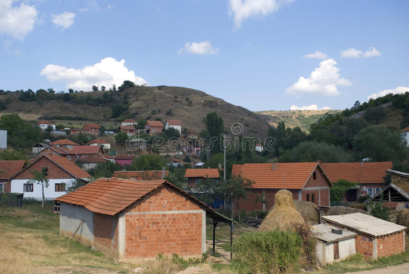 克罗地亚村庄, Janjevo,科索沃 库存图片