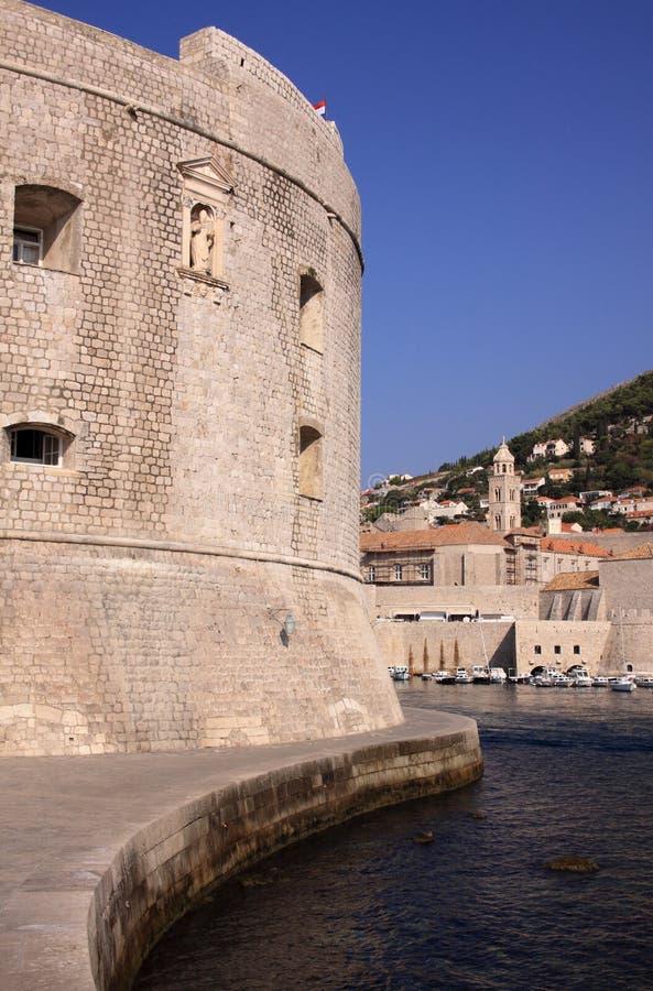 克罗地亚杜布罗夫尼克市堡垒港口约翰圣徒 免版税库存图片