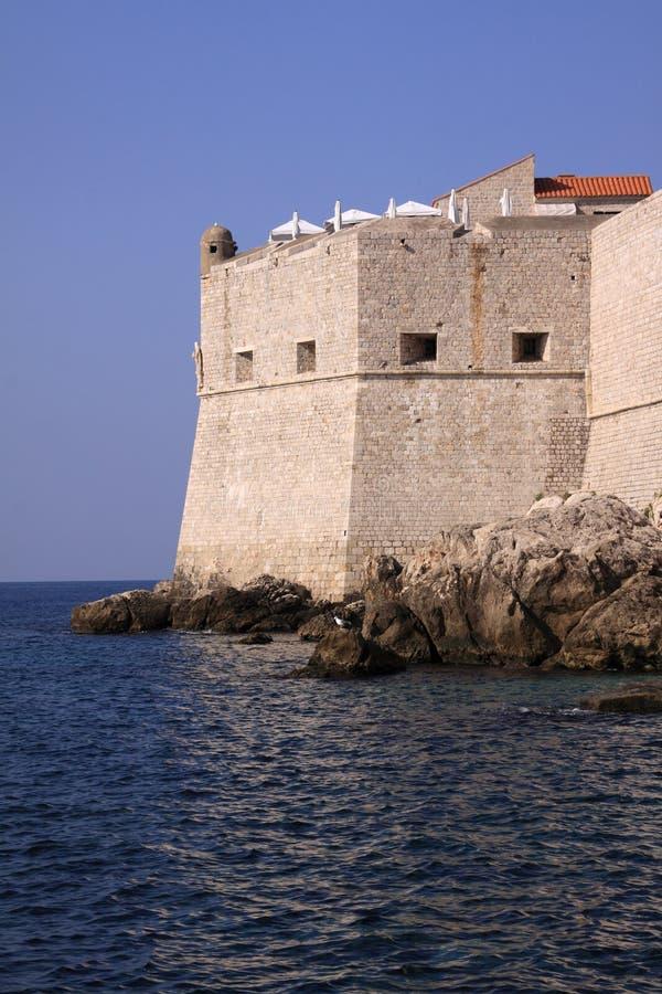 克罗地亚杜布罗夫尼克市堡垒约翰圣徒 库存图片