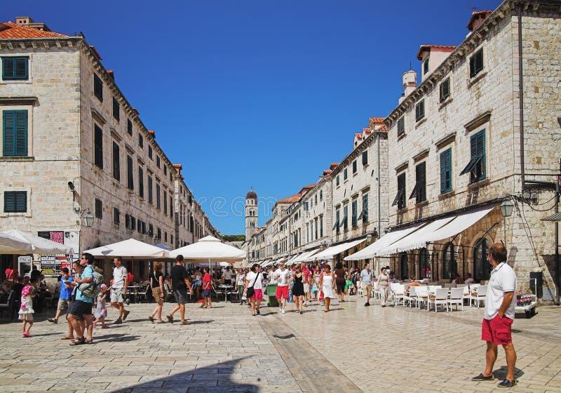 克罗地亚杜布罗夫尼克市老城镇 库存照片