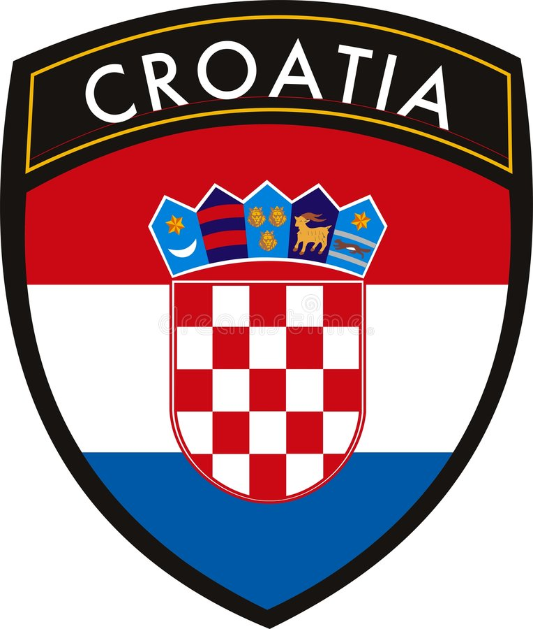 克罗地亚标志 皇族释放例证