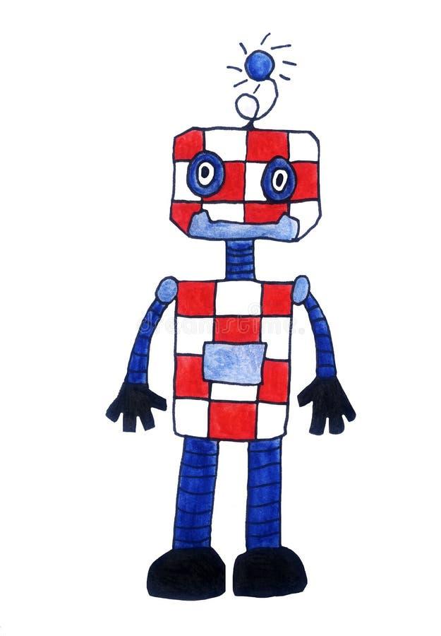 克罗地亚水彩机器人 皇族释放例证