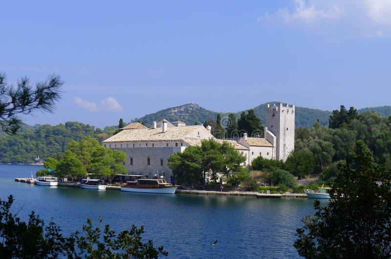 克罗地亚海岛玛丽mljet修道院圣徒 图库摄影