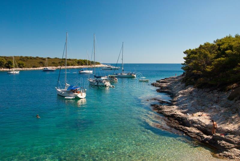 克罗地亚海岛 免版税图库摄影