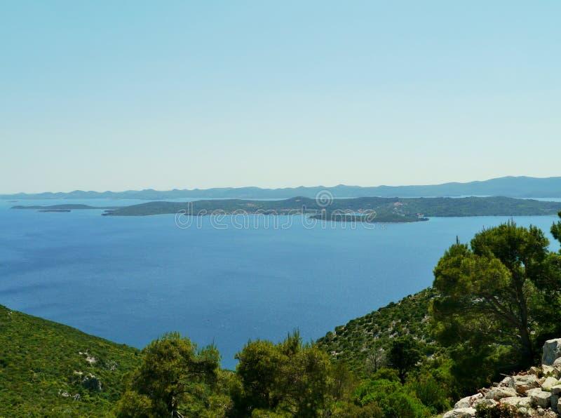 克罗地亚海岛Iz和Dugi Otok 免版税图库摄影